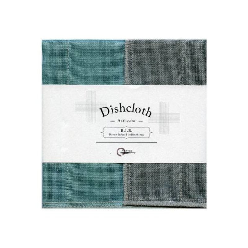 Nawrap dishcloth with binchotan turquoise