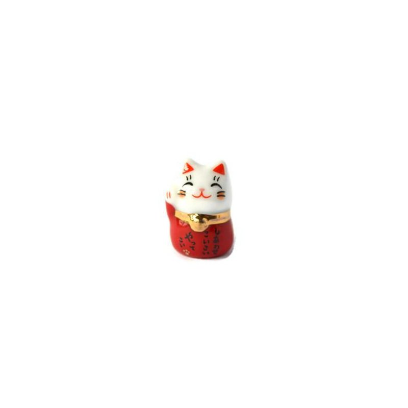 Lucky cat maneki neko red