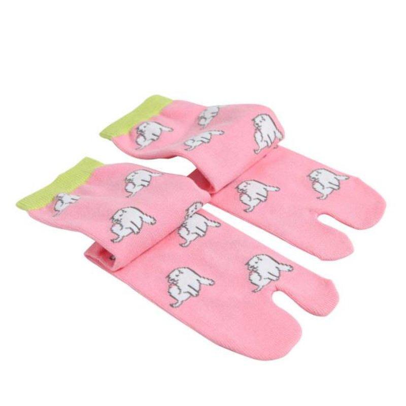 Japanse tabi sokken pochi-roze