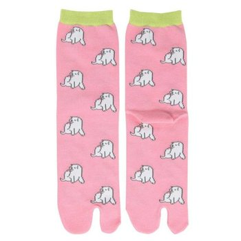 Kyo To To Socks Pochi Pink