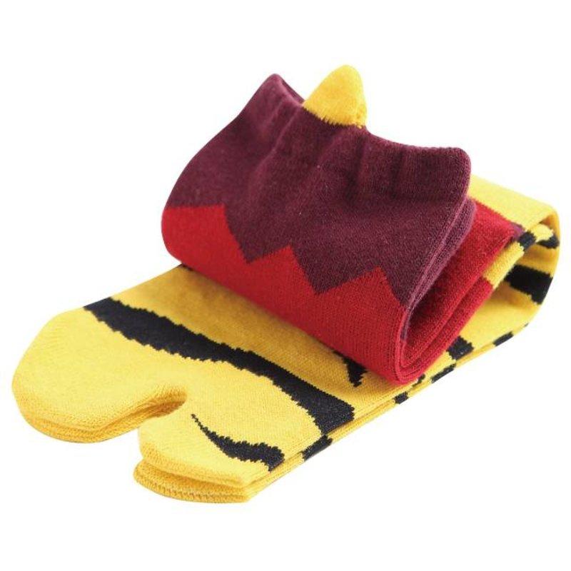 Japanse tabi sokken ogre rood