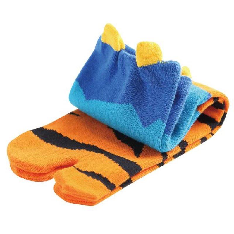 Japanse tabi sokken ogre blauw
