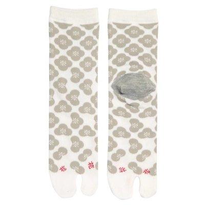 Socks Gray Flowers