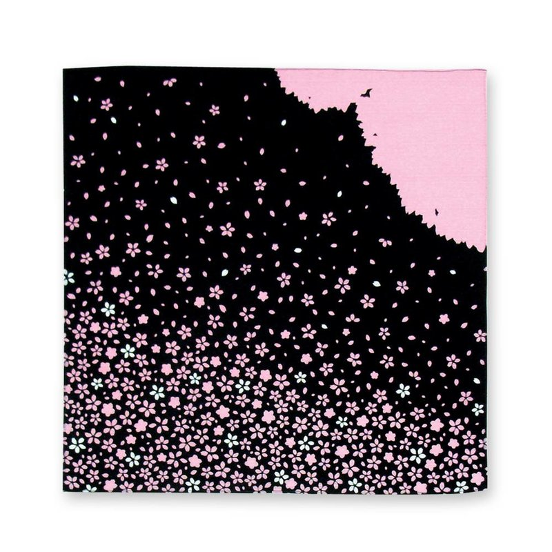 Furoshiki, Japanese wrapping cloth  flowerstorm 50cm