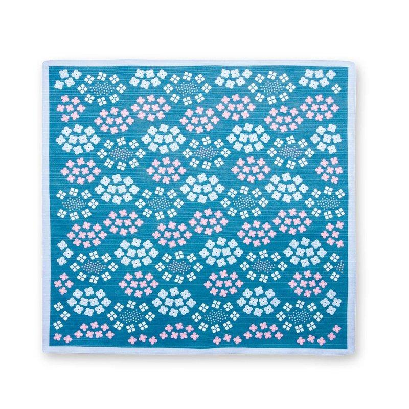 Furoshiki hydrangea Japanese wrapping cloth 50cm