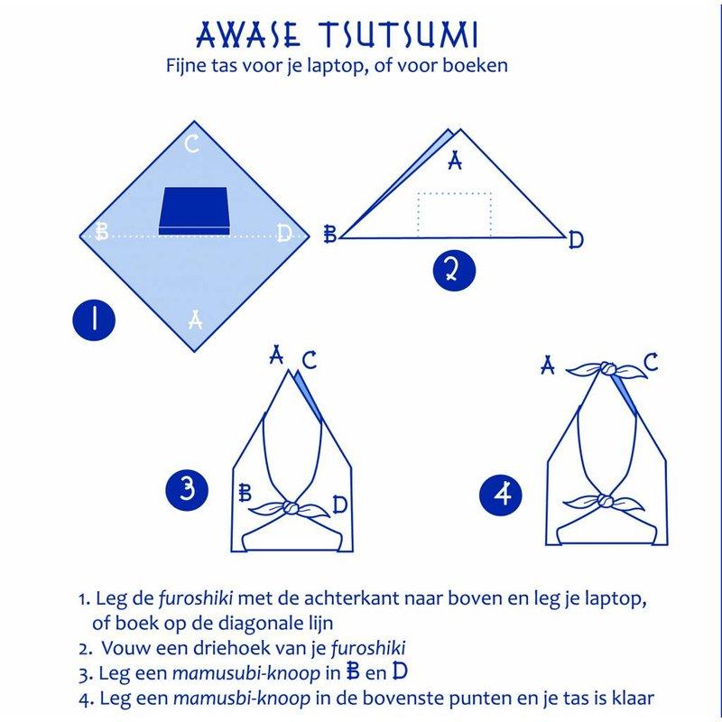 Furoshiki sakura-vogels  knoopdoek 90cm
