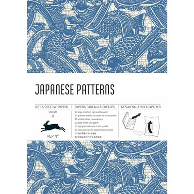 Paper with Japanese patterns
