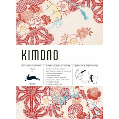 Paper with Kimono Patterns