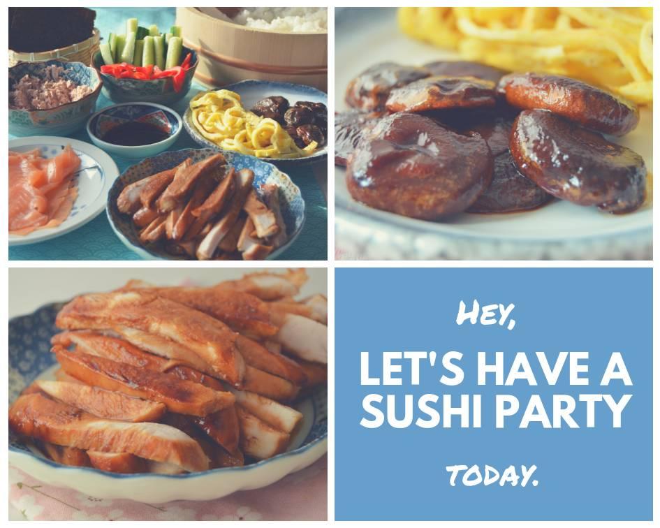 Heerlijk avondje sushi party