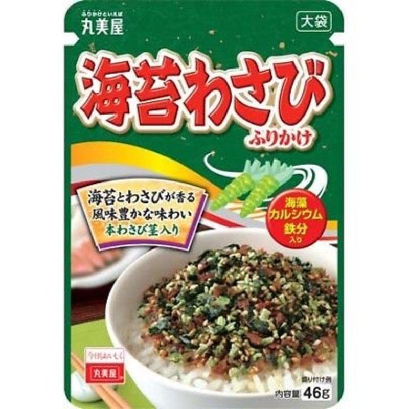 Japanse rijstkruiden met nori en wasabi