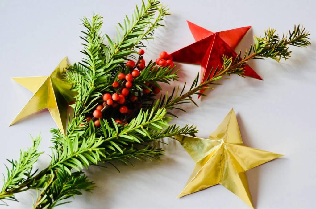 DIY kerstster vouwen