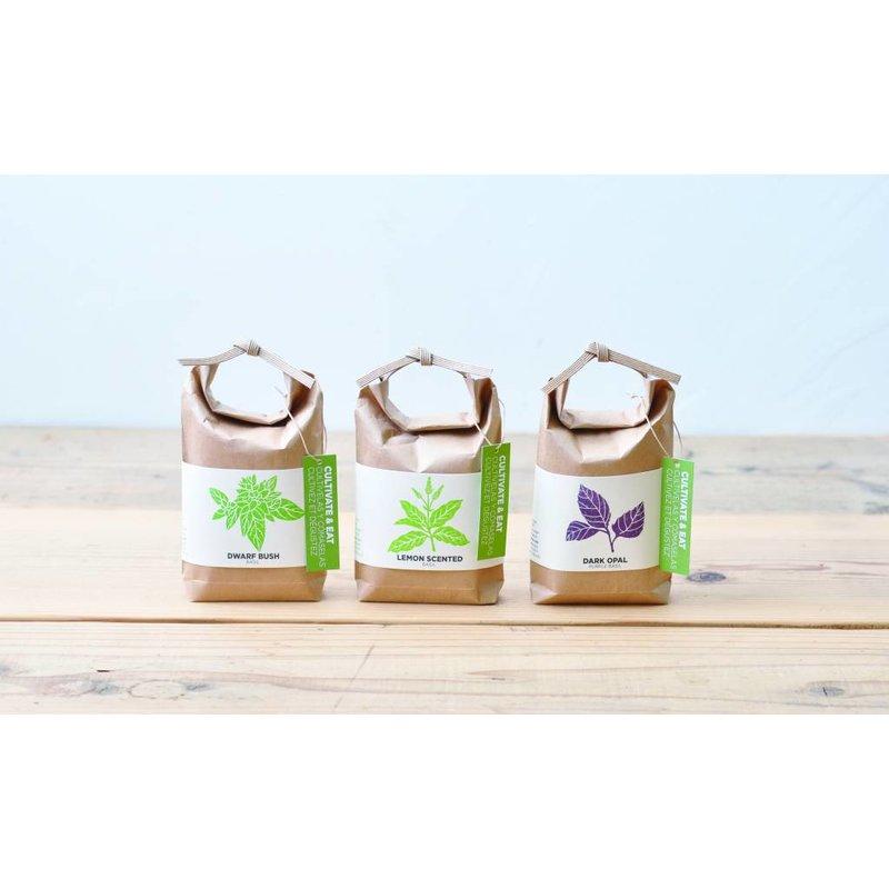 Mini Garden in rice bags - Dwarf Bush Basil