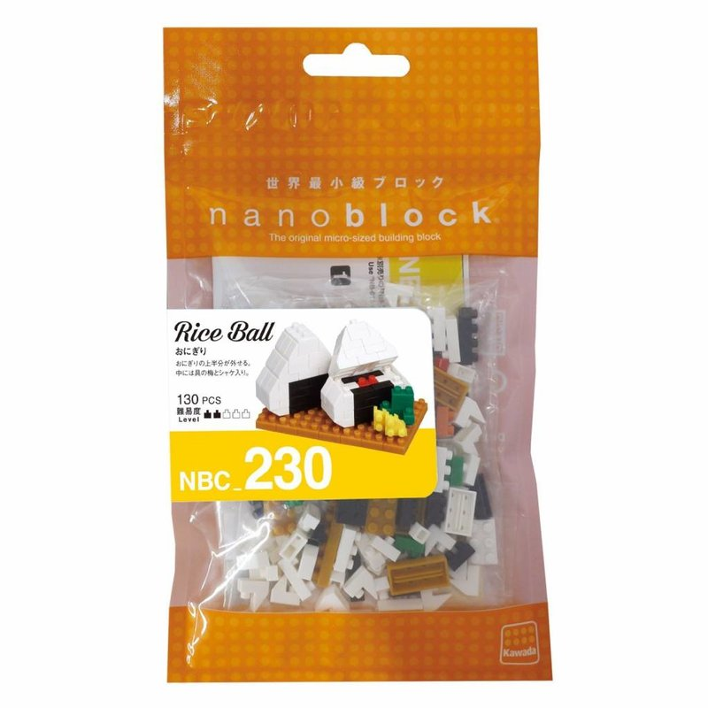 Nanoblock mini bouwsteentjes Onigiri