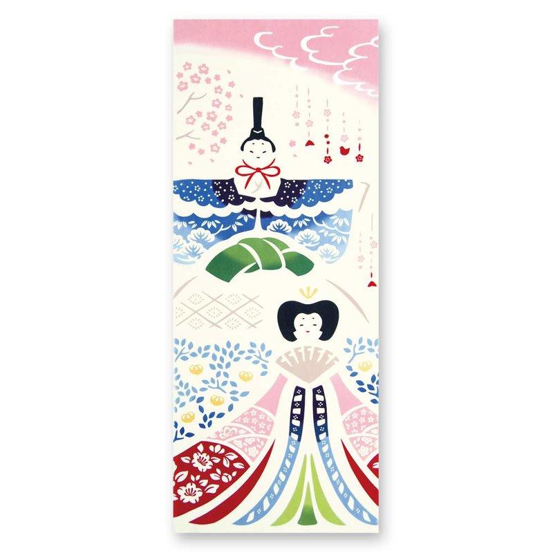 Tenugui Japanese cotton cloth hina dolls
