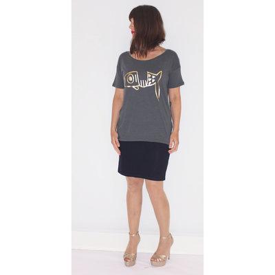 Dames T-Shirt Not so Lucky Fish
