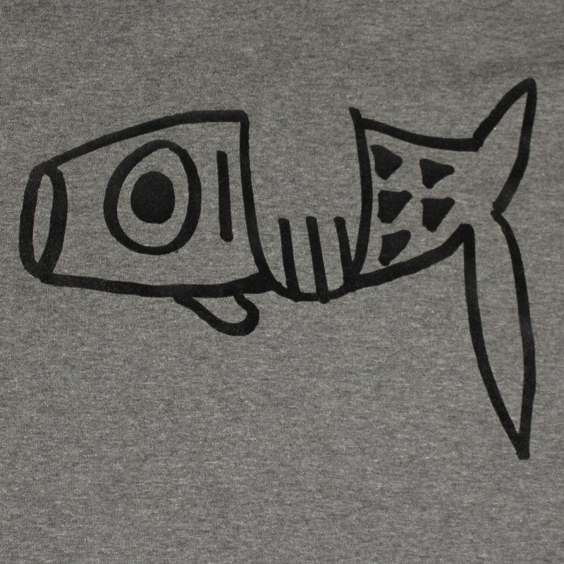 Dames sweater dress fish, heather grey