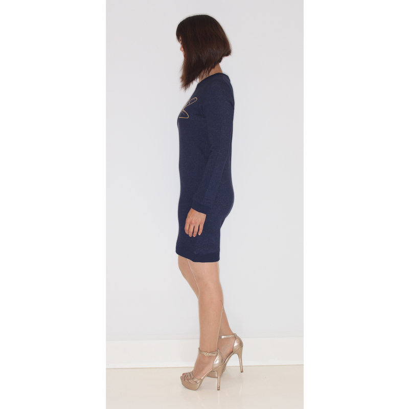 Dames sweater dress tombo, heather blue