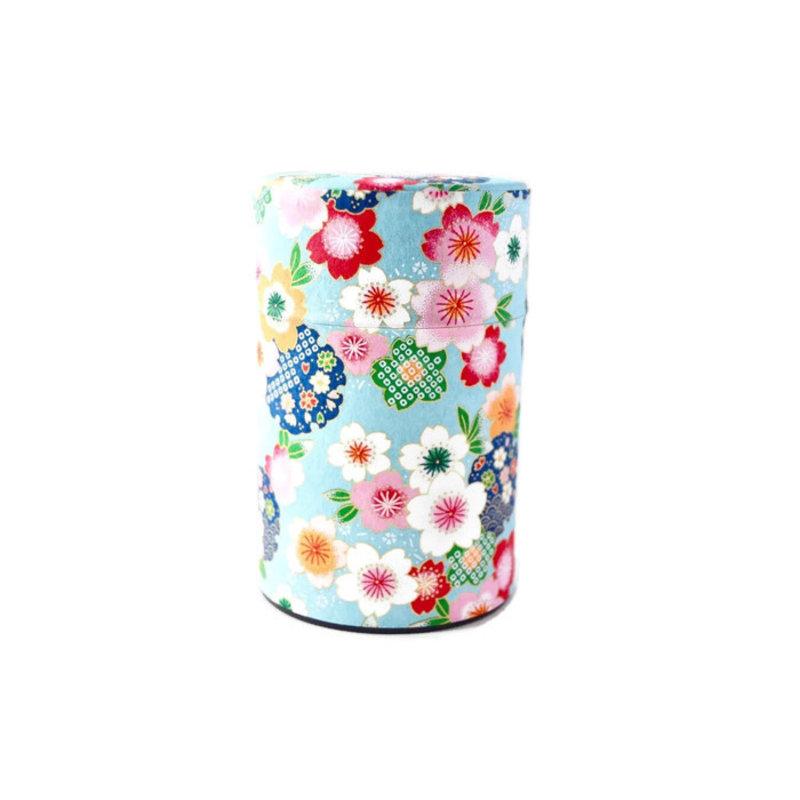 Japanese tea can 100gr sakura - colorful