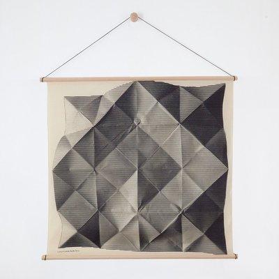 Furoshiki Folded Black met Hanger