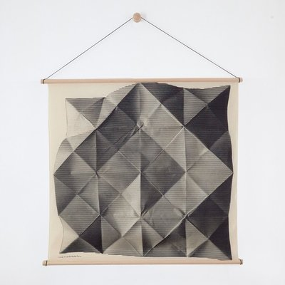 Furoshiki Folded Black with Hanger