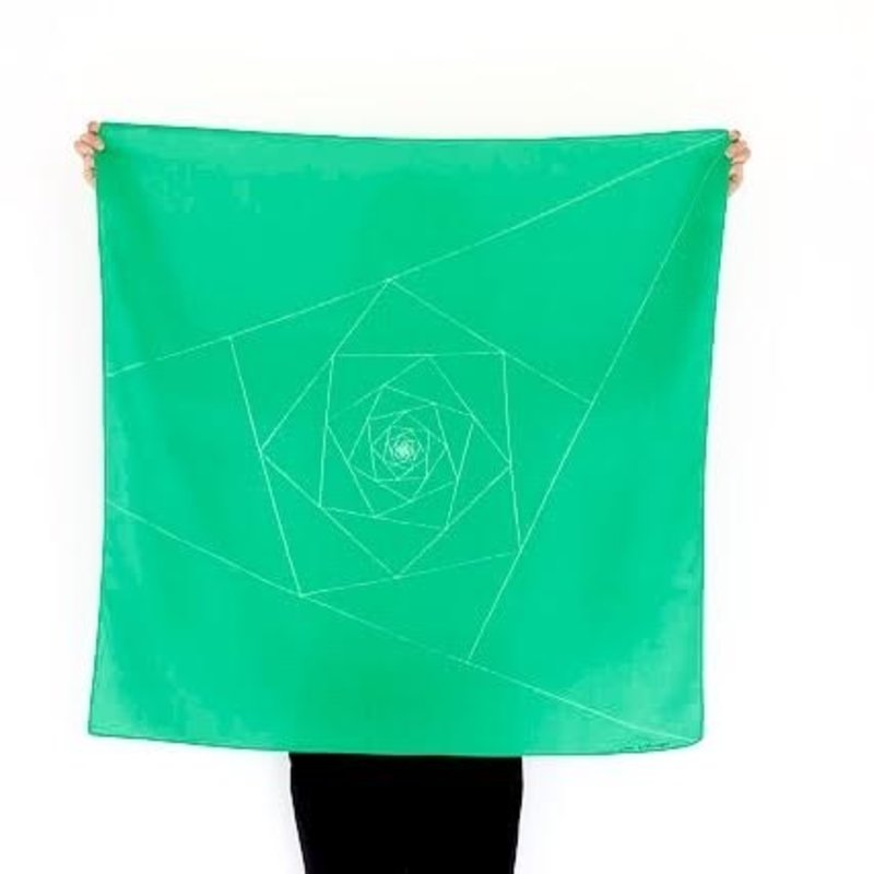 Furoshiki bag triangle green
