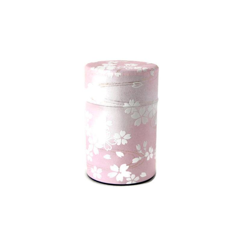 Japanese tea can 100gr sakura - pink