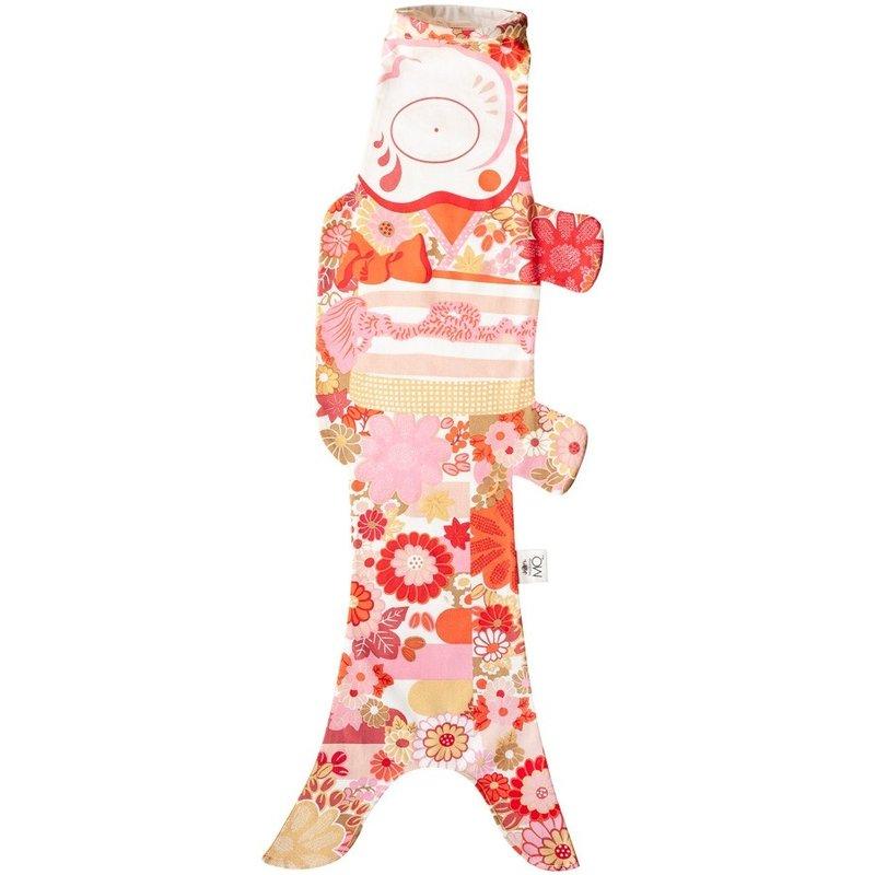 Japanese koinobori carp flag girl