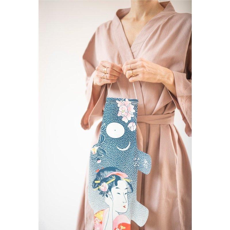 Japanese koinobori, carp flag, tattoo geisha