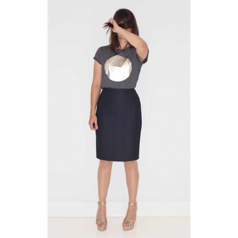 Ladies t-shirt silver moon medium fit
