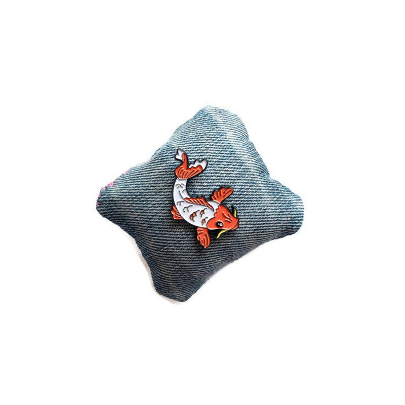 Enamel pin with koi