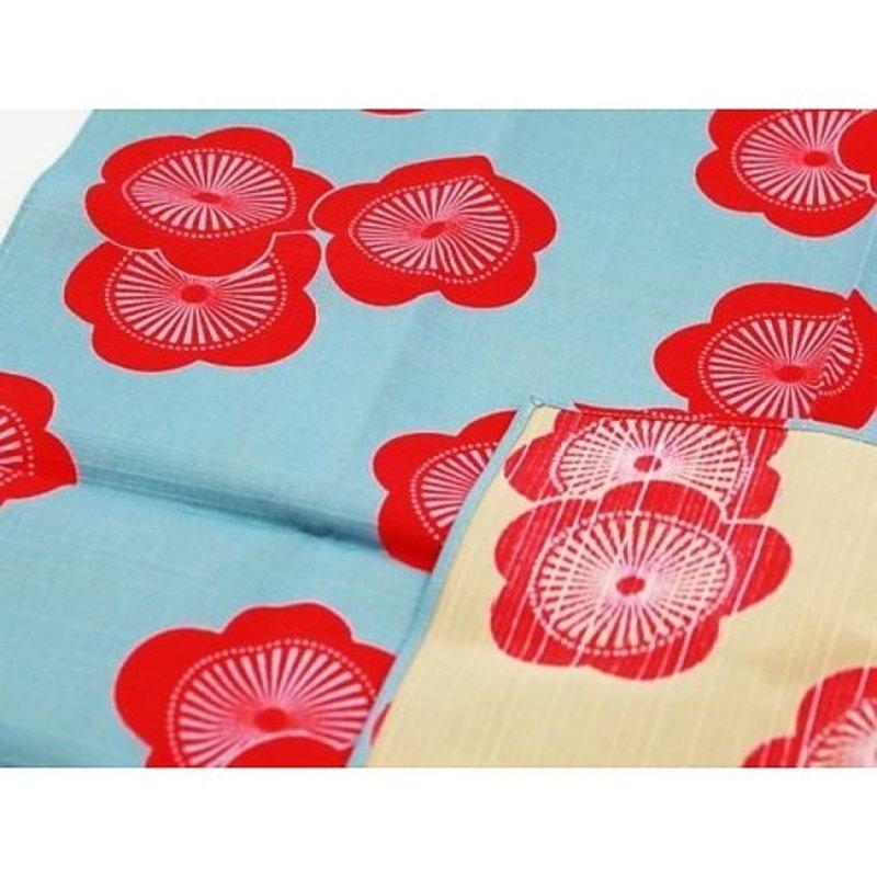 Furoshiki Japanse knoopdoek plum