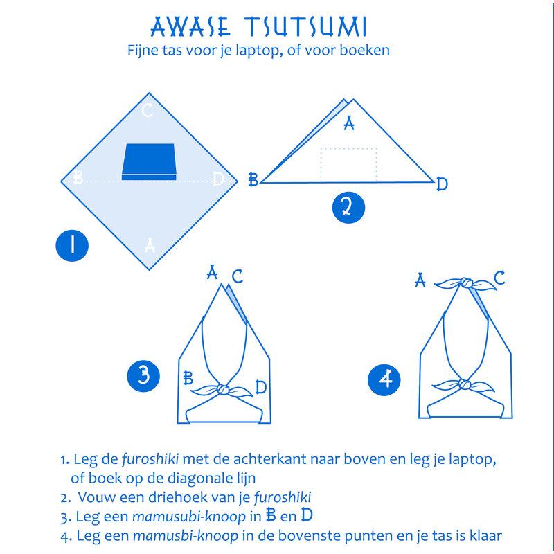 Furoshiki Japanese knot cloth plum