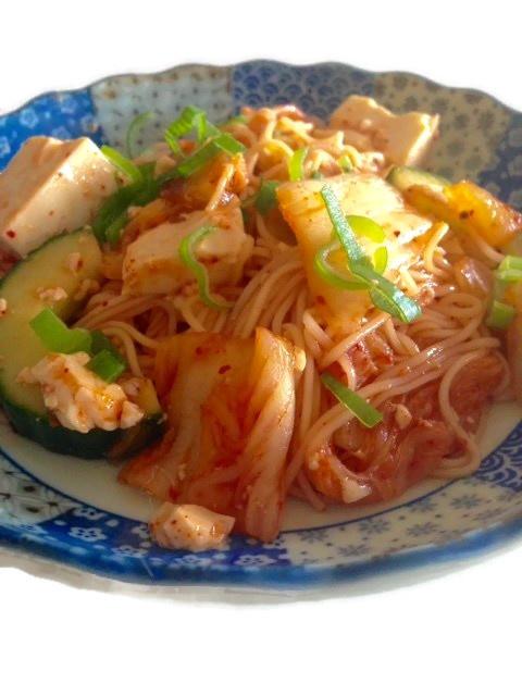 Japanse zomerse kimchi salade