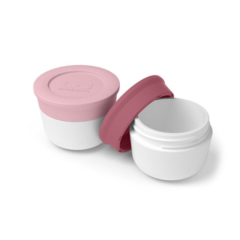 Monbento bentobox accessories sauce cups lytchee-blush