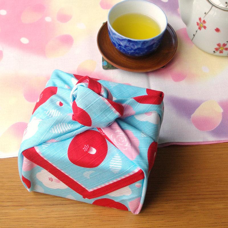Furoshiki Japanese camellia knot bag
