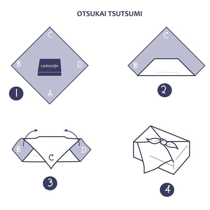 Furoshiki Japanse knoopdoek arabesque