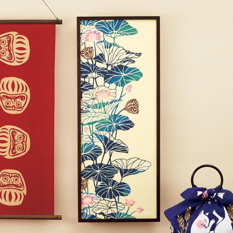 Tenugui Japanese cotton cloth lotus