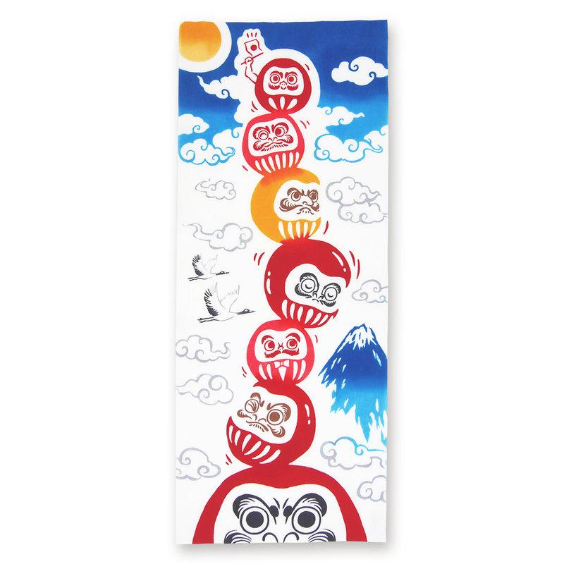 Tenugui Japanse katoenen doek daruma