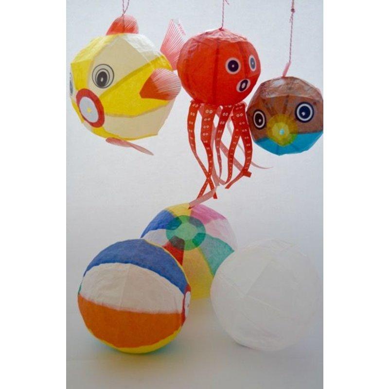 Japanse papieren ballonnetjes kami fuzen sea mix