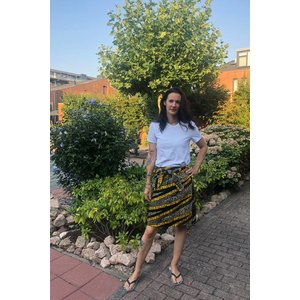 Skirt Sekondi of African cotton fabric