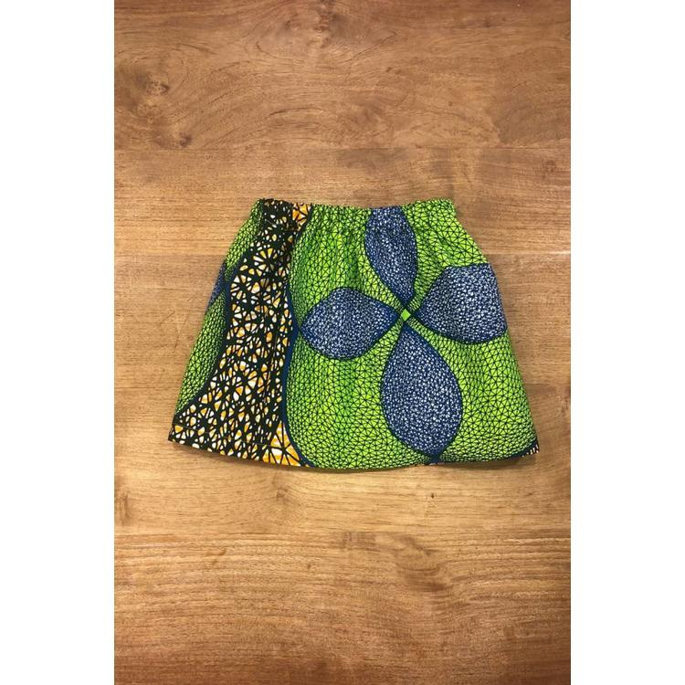 Children's Skirt Madina of colorful African fabric
