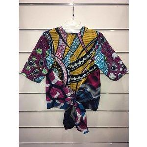 Knotted blouse Sekondi van Afrikaanse prints