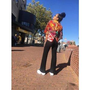 Knotted blouse Madina van Afrikaanse prints
