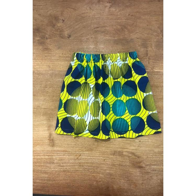 Children's Skirt Lanja of colorful African fabric
