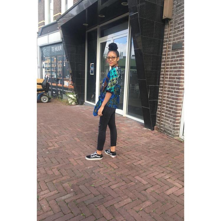 Knotted blouse Shama van Afrikaanse prints