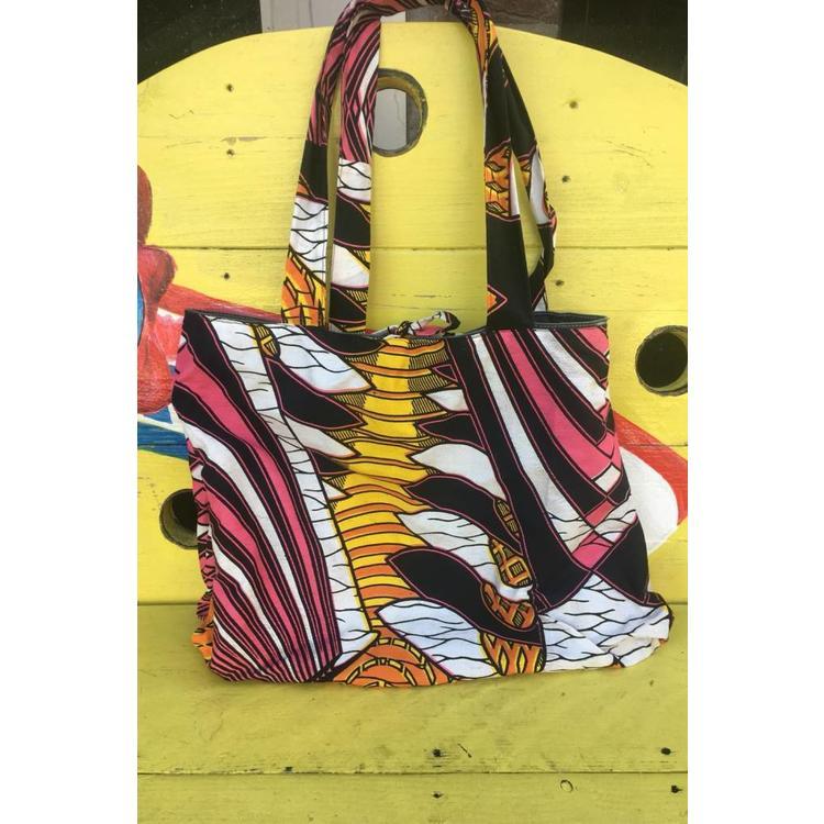 Jeanstas Kumasi keerbaar met Afrikaanse print