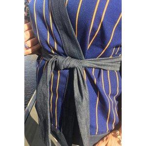 Kimono jacket Tamale made of handwoven Batakari fabric