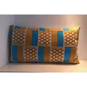 Pillow Harmony made of handwoven Kente fabric