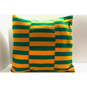 Pillow Renewal made of handwoven Kente fabric