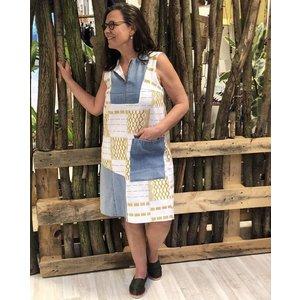 Dress Mokola made of Batakari fabric